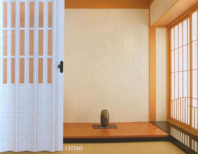 Дверь гармошка полуостекленная 860х2030х12мм