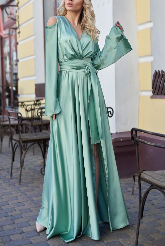 Платье Виктория оливка s