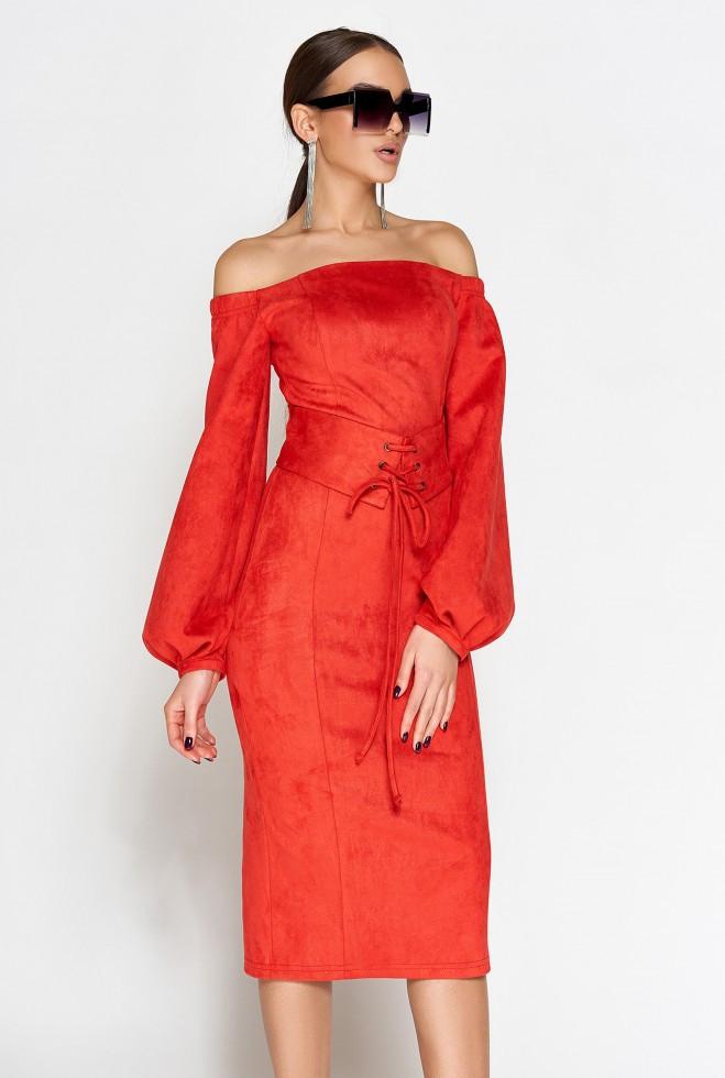 Платье Кристал красный s