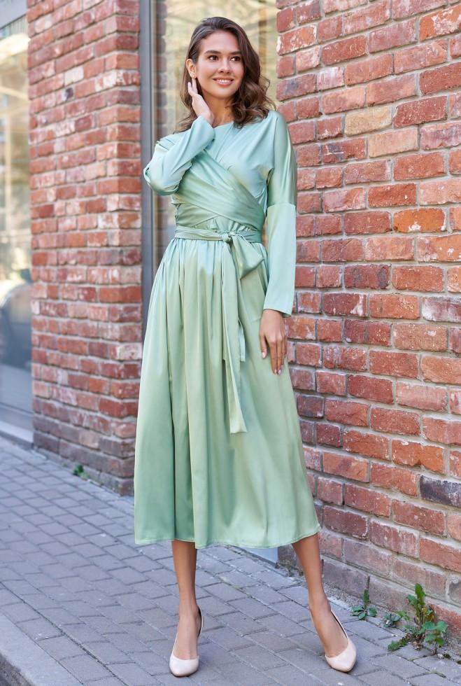 Платье Мадейра оливка m