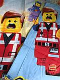 Детское полуторное постельное белье Лего, фото 2