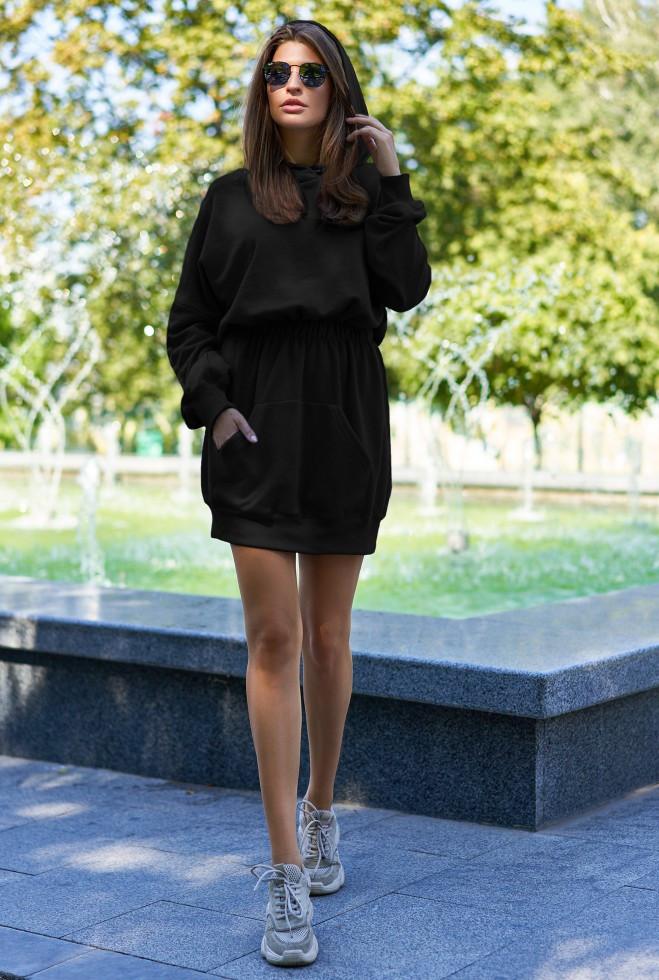 Платье-худи Виола черный m