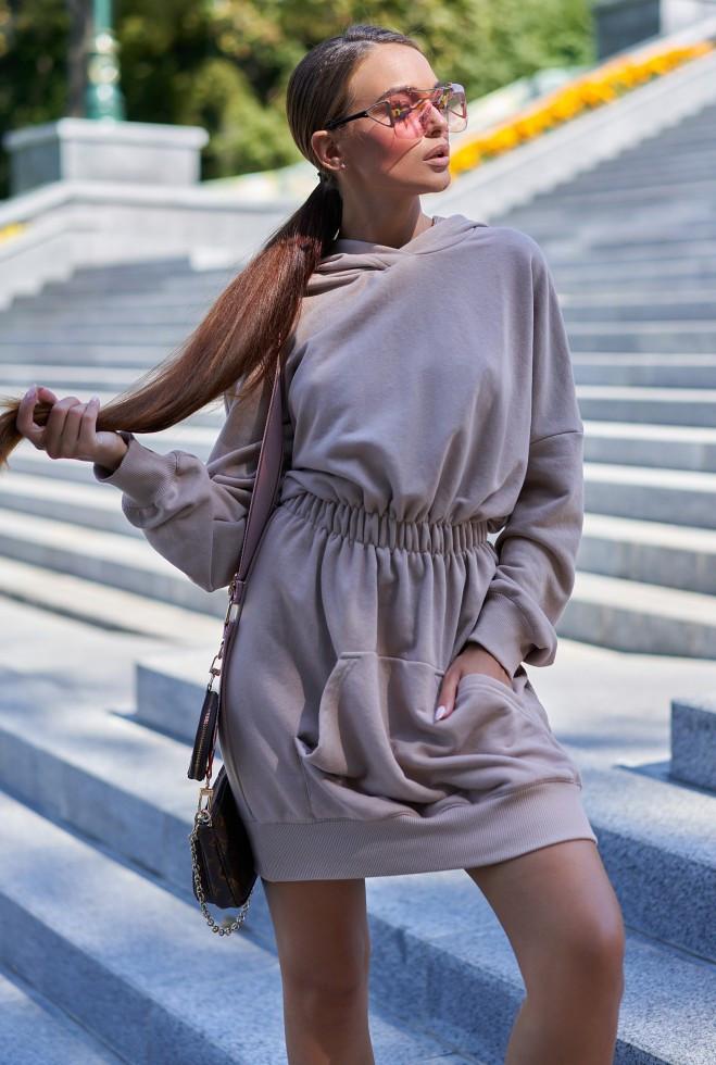 Платье-худи Виола бежевый m