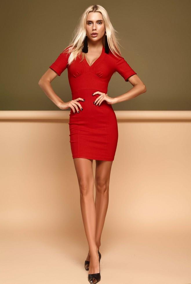 Платье Стейси красный m