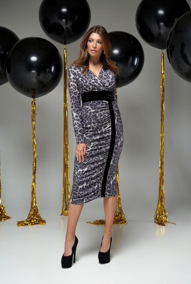 Платье Сильвия серый m