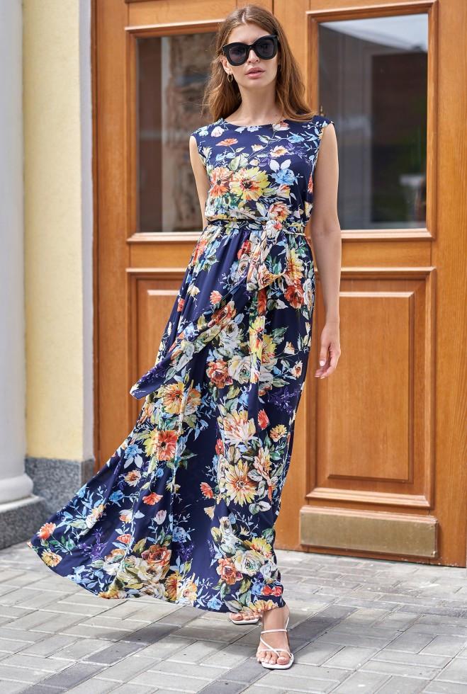 Платье Сиона тёмно-синий xl