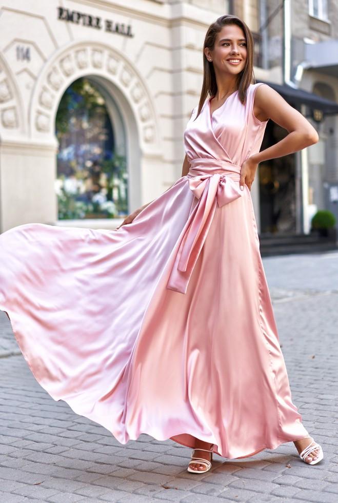 Платье Фурор персиковый l