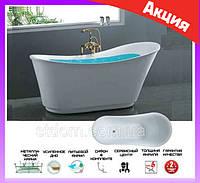 Отдельностоящая овальная ванна 180*80 см Atlantis C-3003 белая