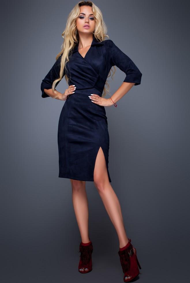Платье Крейзи тёмно-синий xl