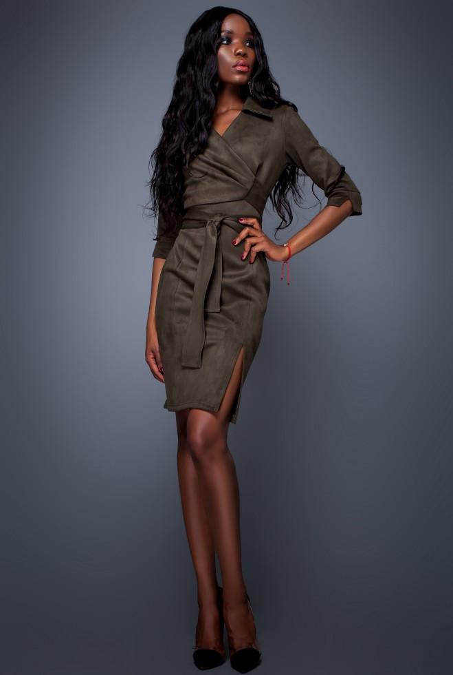 Платье Крейзи хаки xl