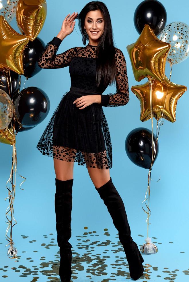 Платье Асель черный xl
