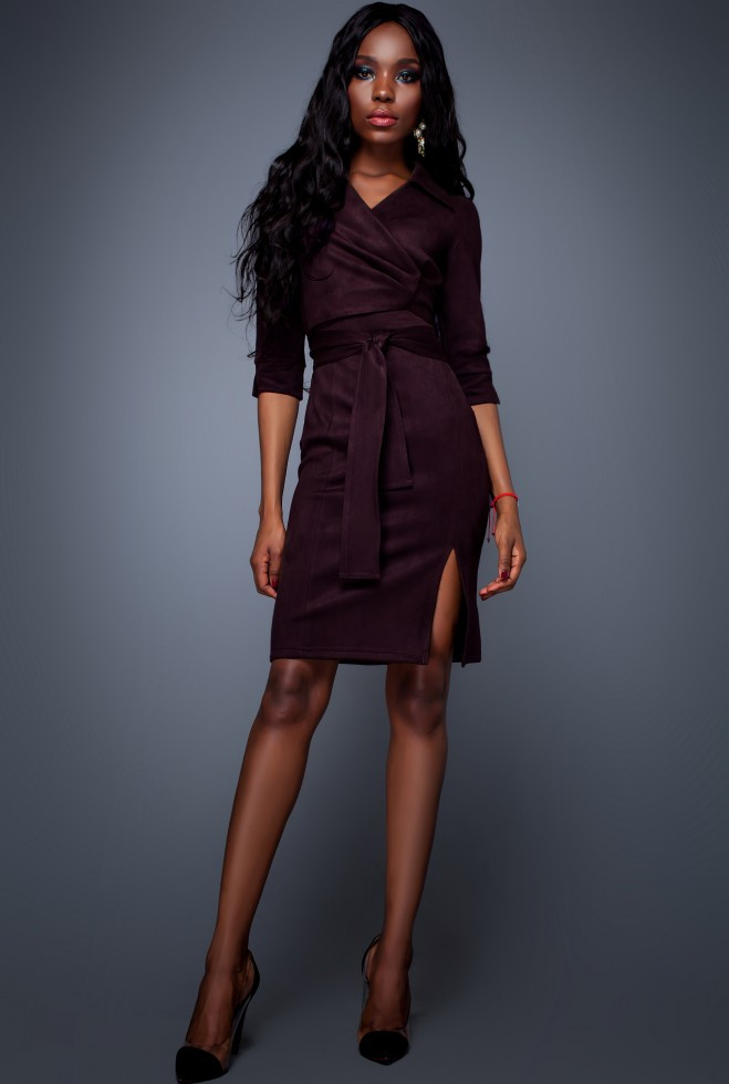 Платье Крейзи слива xl