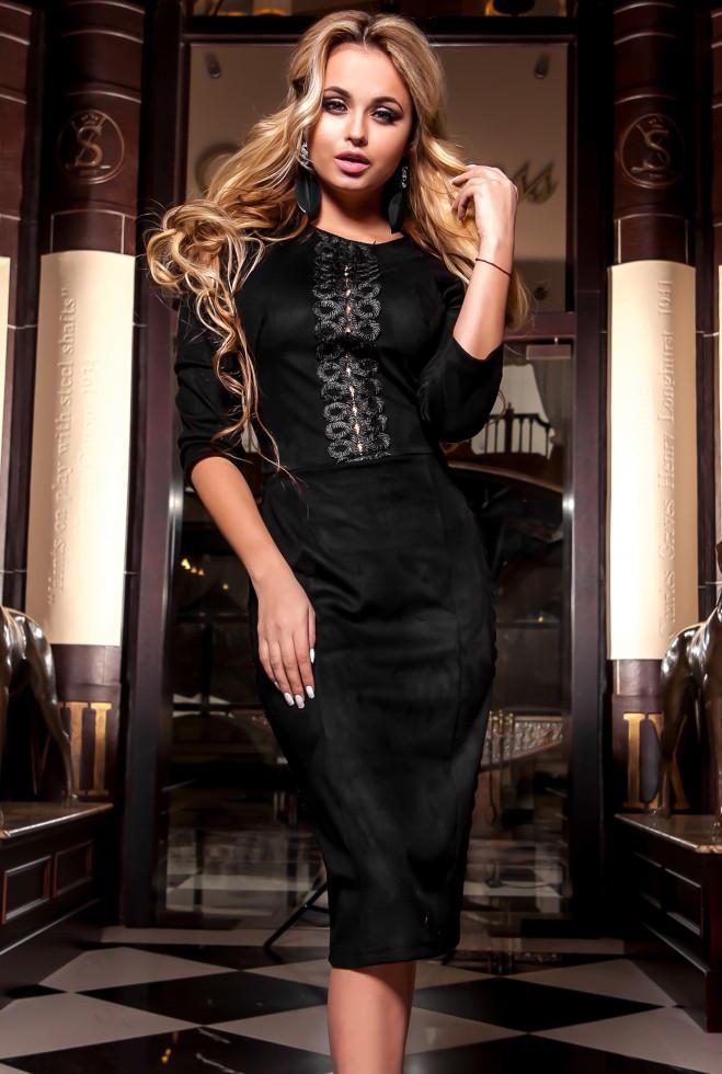 Платье Эрни черный l