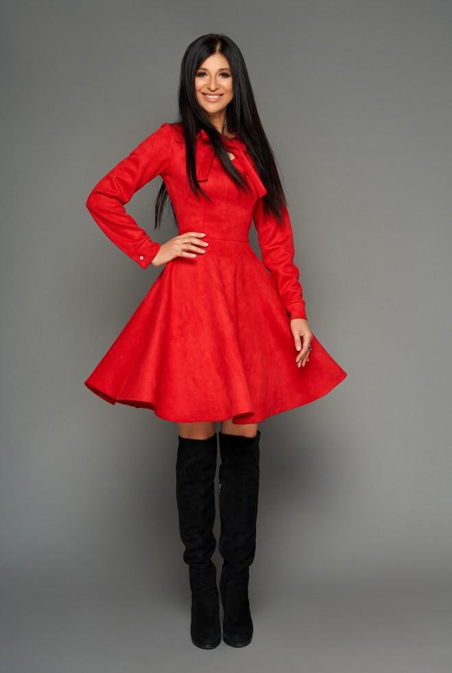 Платье Хайди красный xl