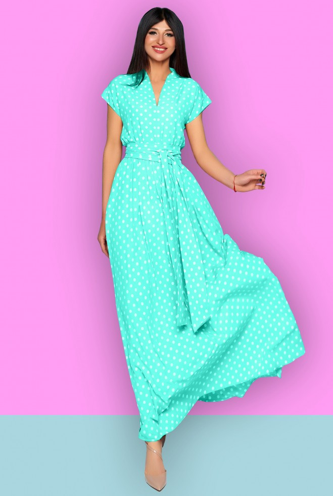 Платье Сюзанна бирюзовый l