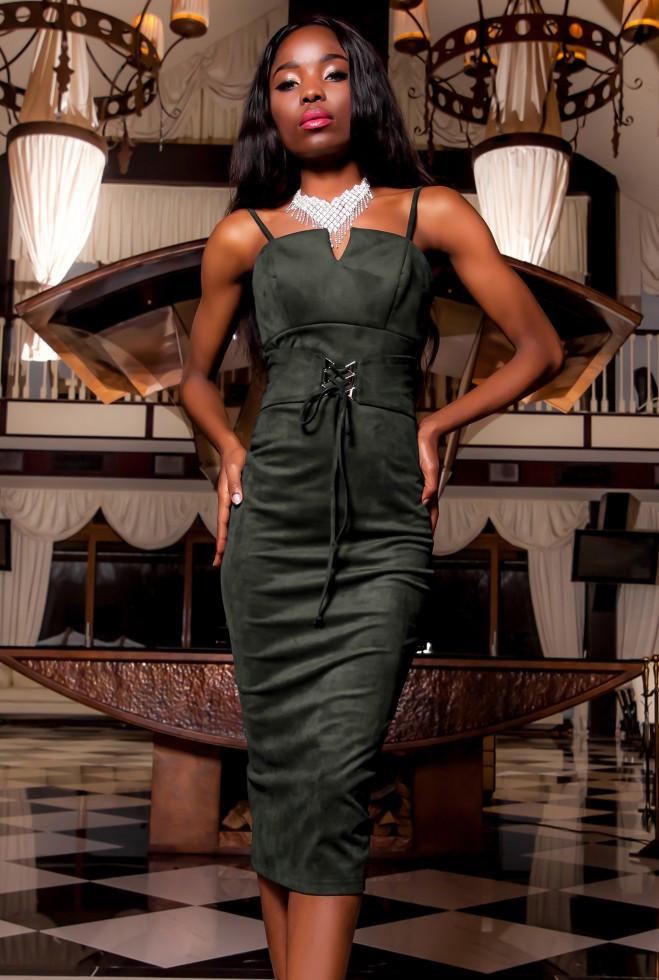 Платье Бюстье хаки l