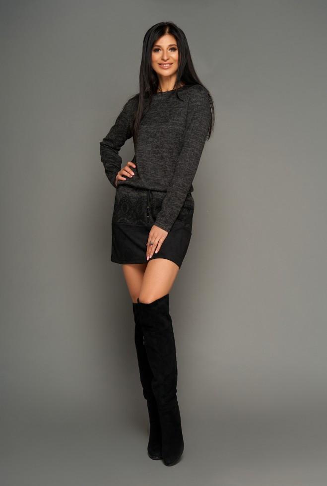 Платье-туника Раби черный xl