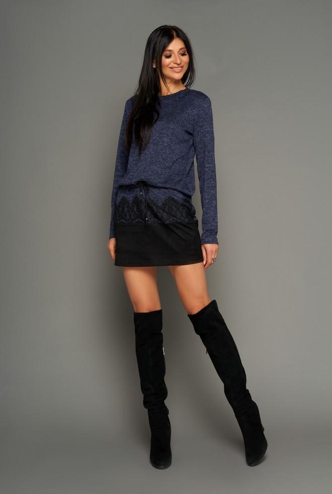Платье-туника Раби тёмно-синий xl
