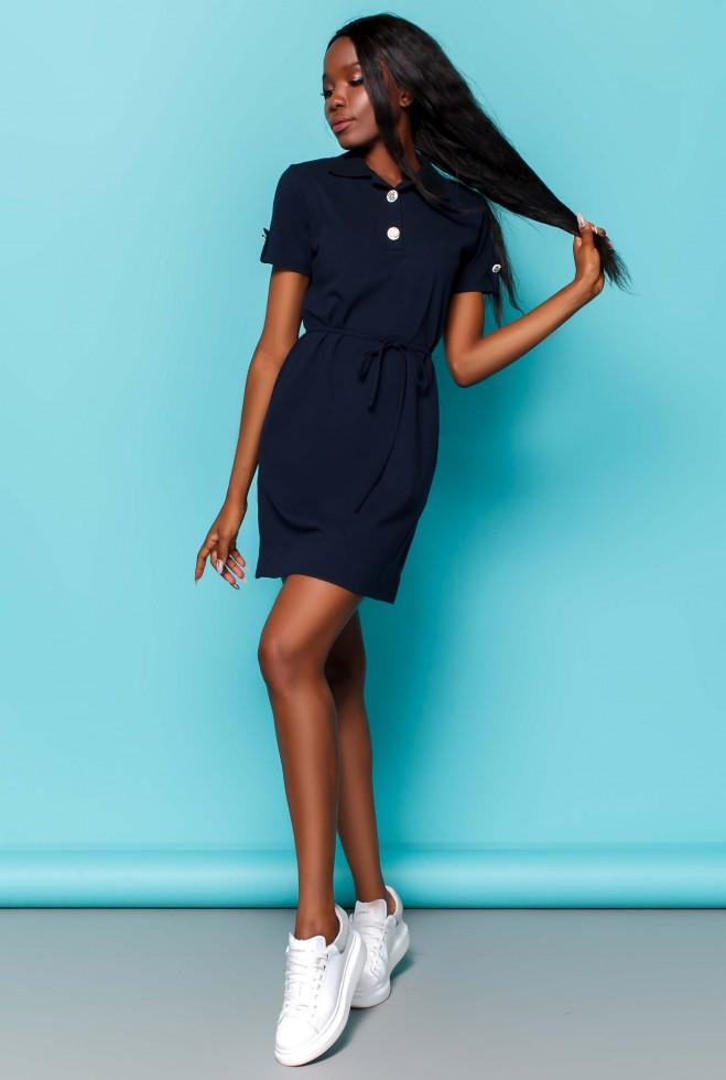 Платье Тарина тёмно-синий l