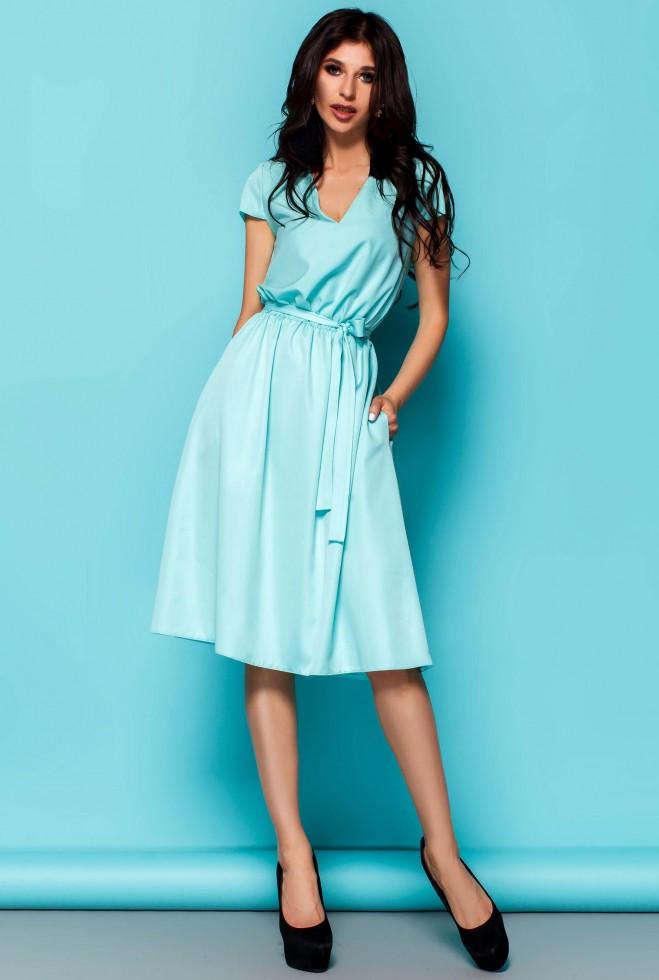 Платье Лина бирюзовый xl