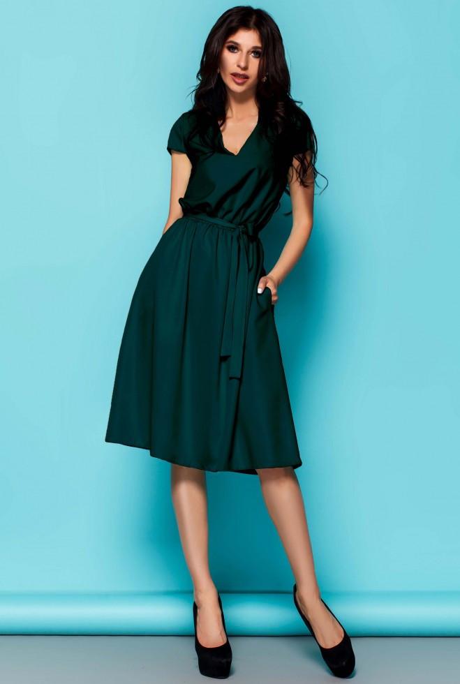 Платье Лина Изумруд xl