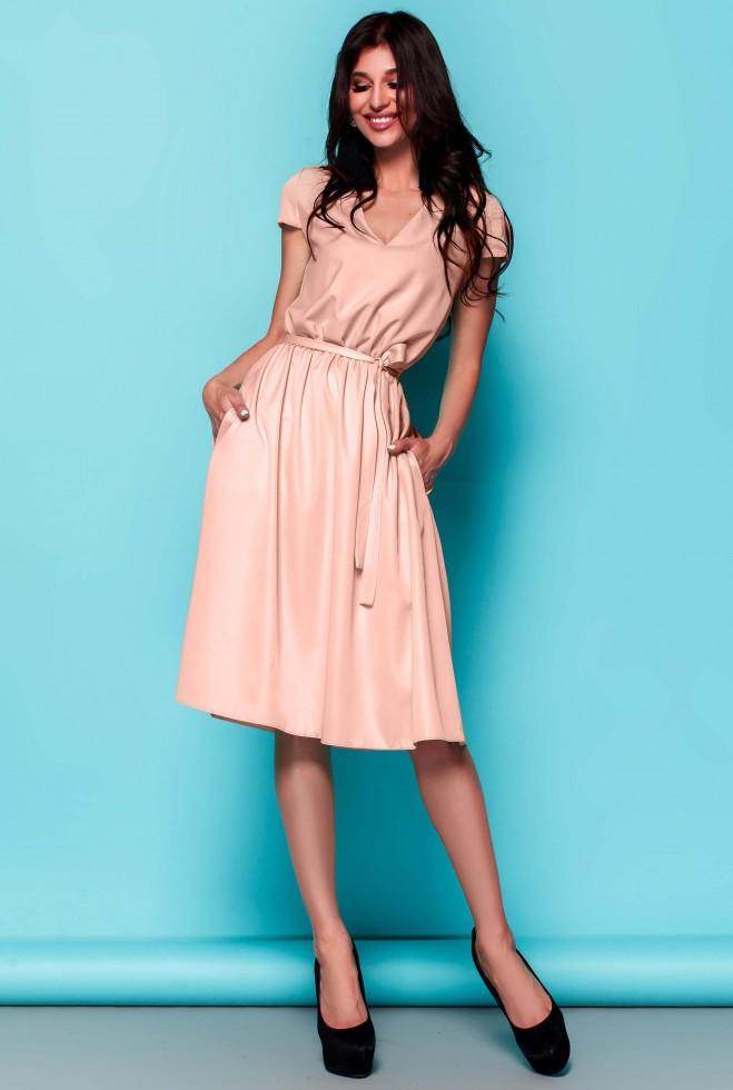 Платье Лина персиковый xl