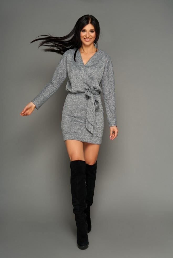 Платье Эльза серый l