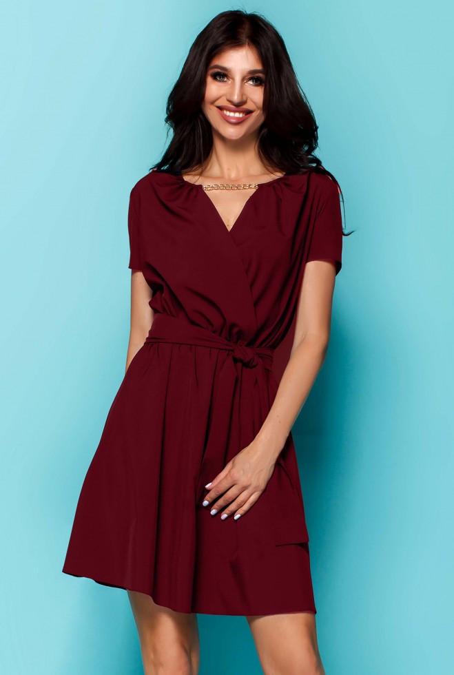 Платье Мелиса бордовый m