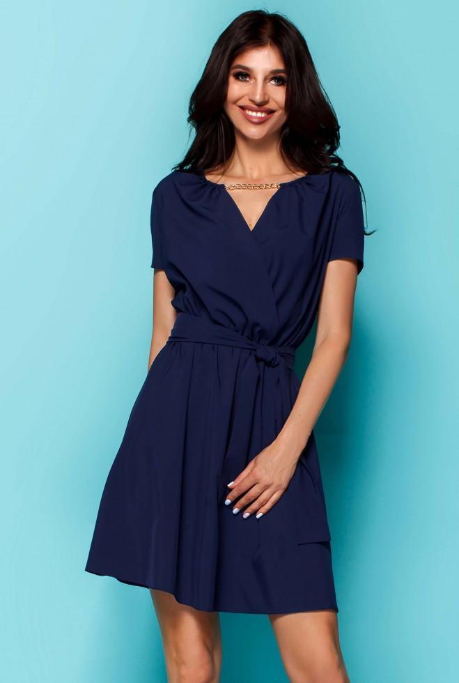 Платье Мелиса тёмно-синий m