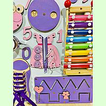 Развивающая доска размер 50*60 Бизиборд для детей 35 элементов!, фото 2