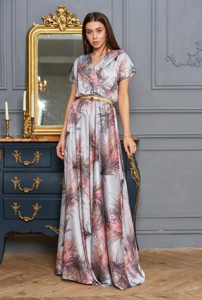 Платье Нора стальной m