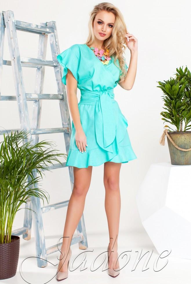 Платье Нарциси бирюзовый s