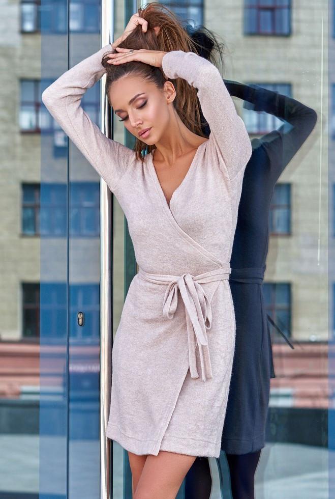 Платье Меган бежевый m