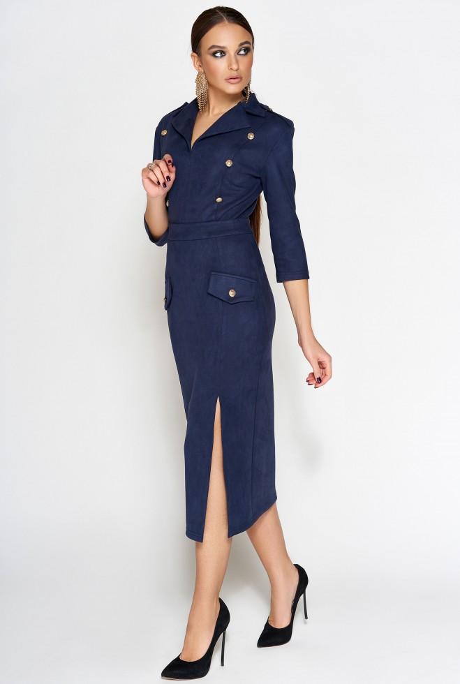 Платье Диана тёмно-синий m