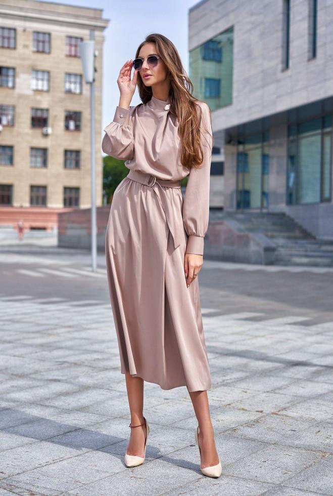 Платье Сандра бежевый l