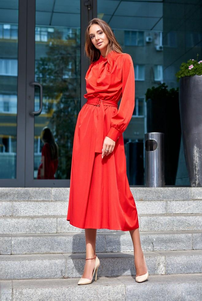 Платье Сандра красный l