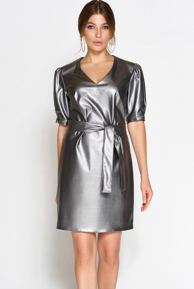 Платье Марта стальной s
