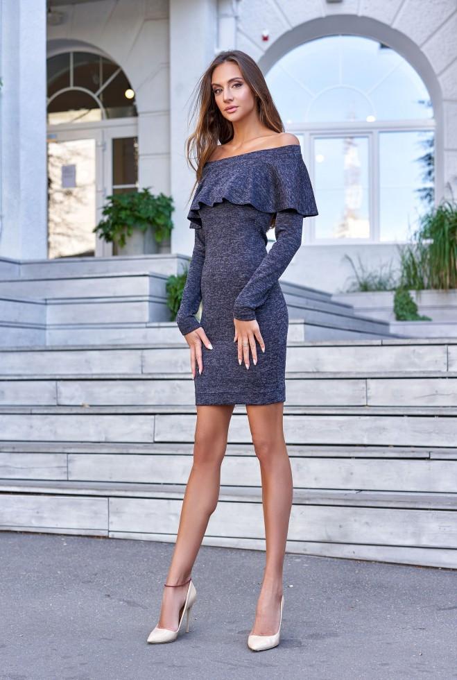 Платье Мика тёмно-синий m