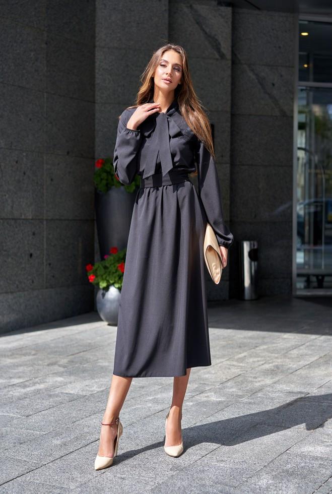 Платье Алиша черный s
