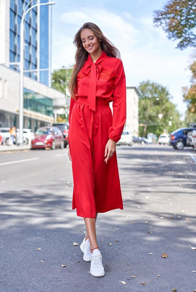 Платье Алиша красный s