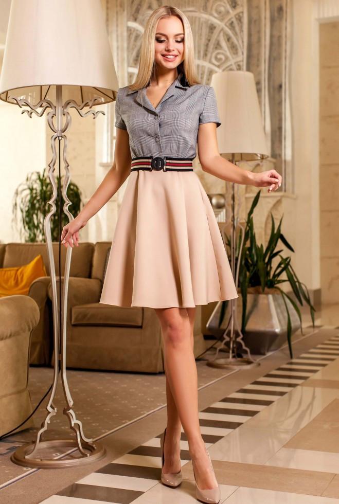 Платье Энира бежевый xl
