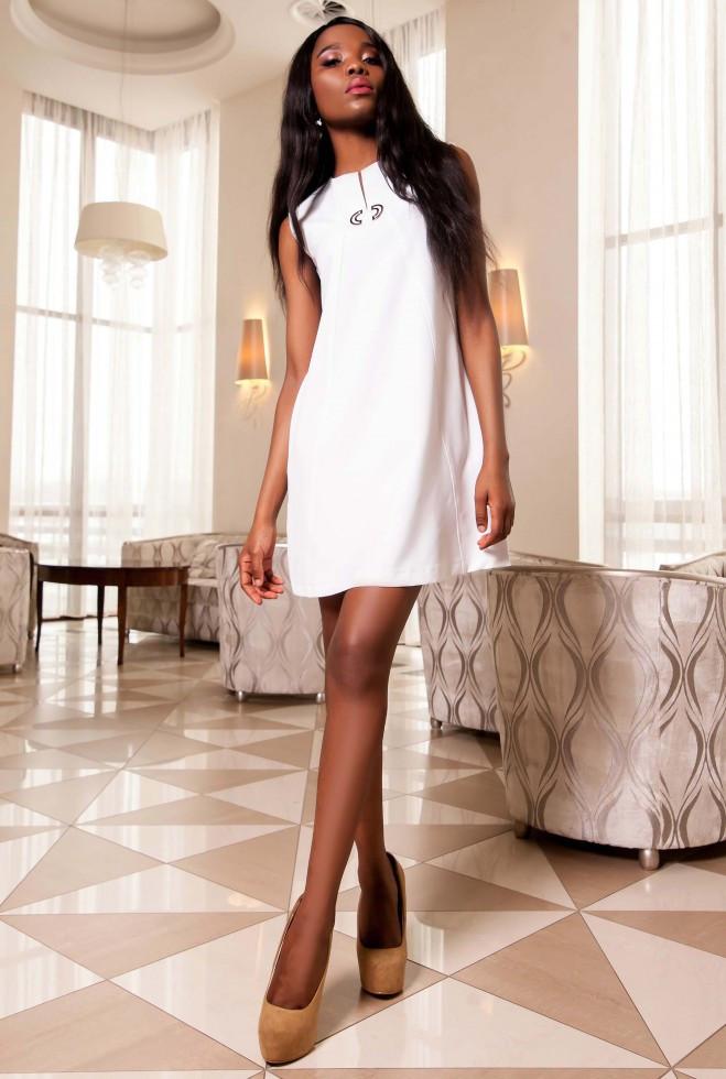 Платье-туника Кетти молочный m