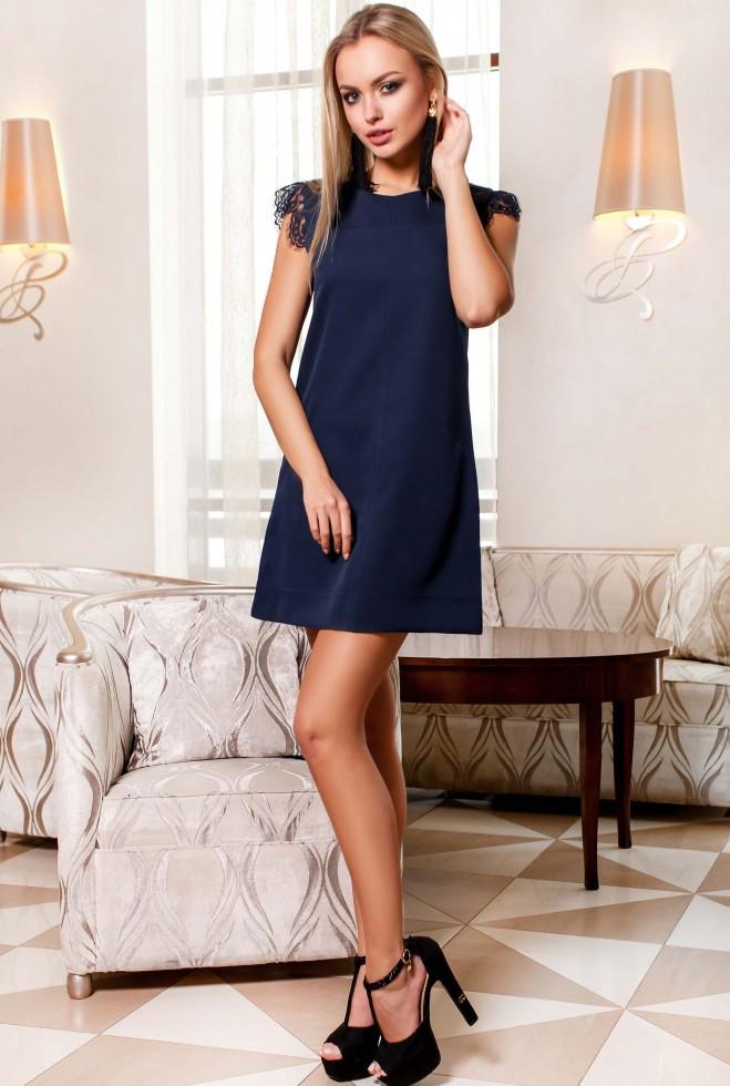 Платье Закира тёмно-синий xl