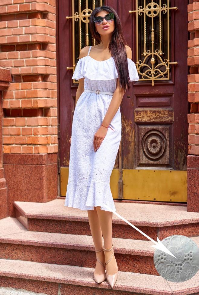 Платье Клео без ремня белый m