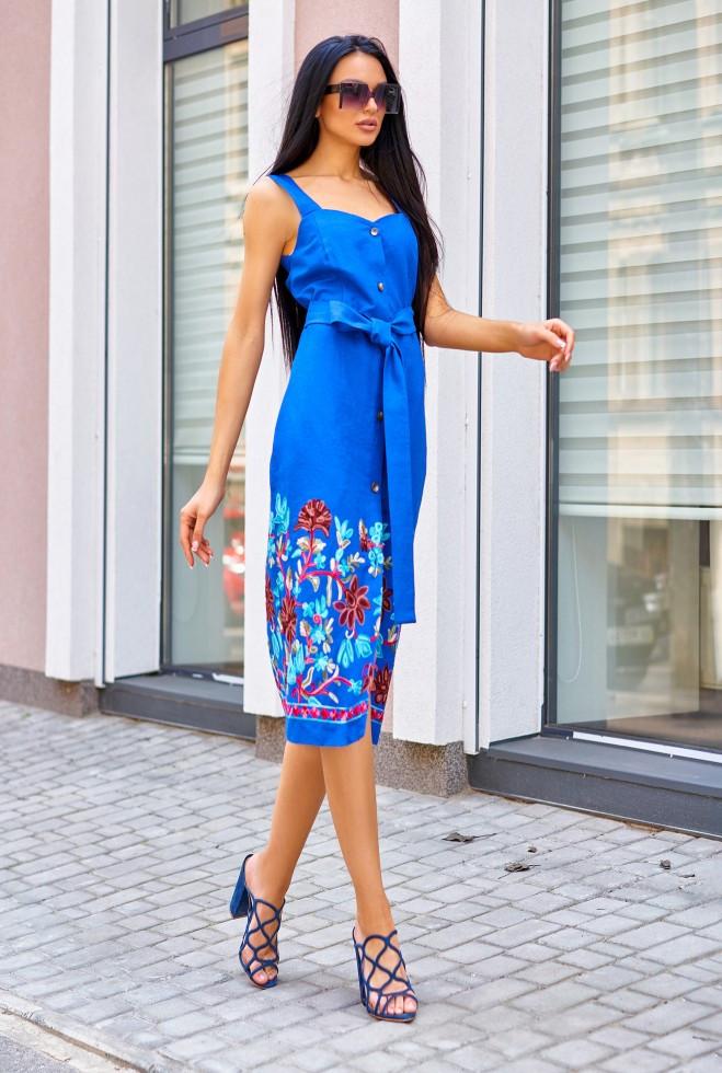 Платье Салли электрик s