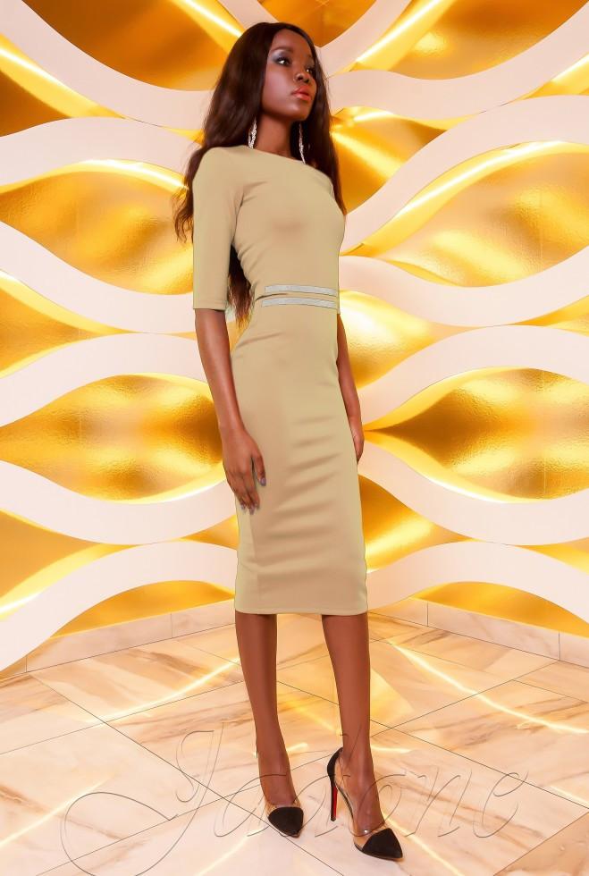 Платье Богемия бежевый l