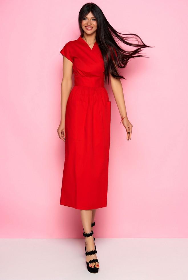 Платье Сьюзи красный m