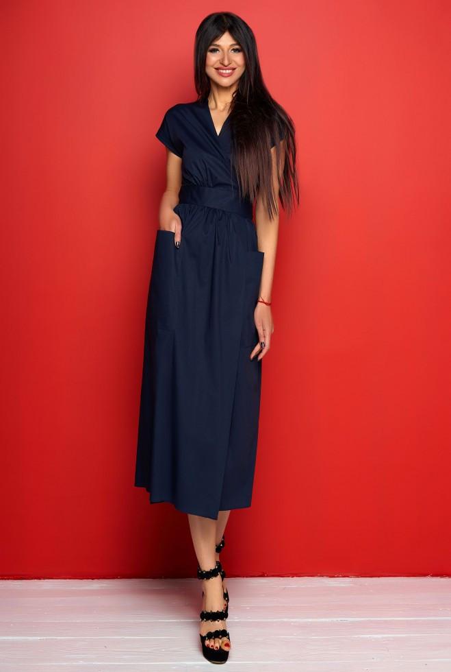 Платье Сьюзи тёмно-синий m