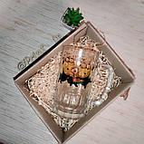 Печать на пивном бокале стеклянный прозрачный граненый снизу 650мл, фото 3
