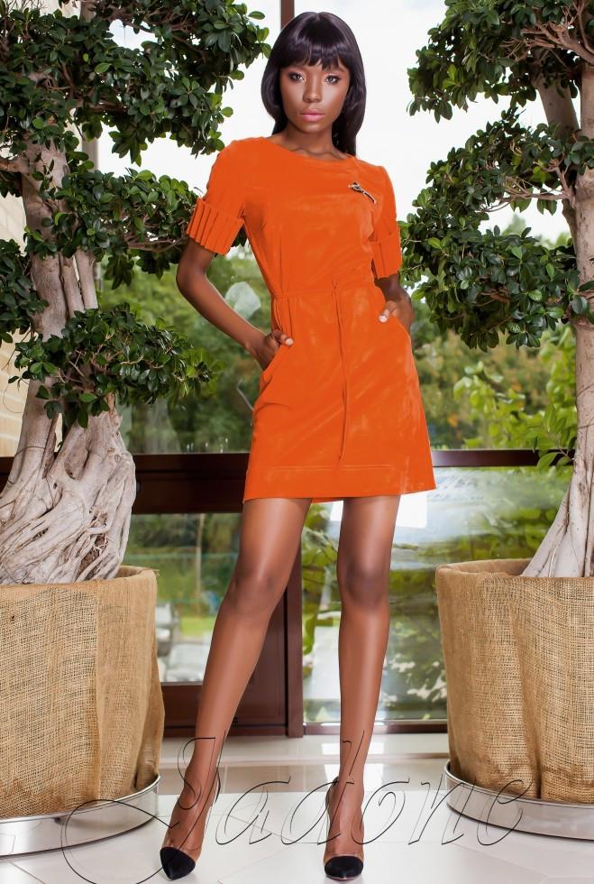 Платье Сетти кирпичный xl